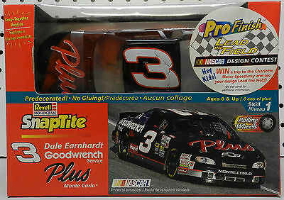 Pro Finish Plus Chevy Monte Carlo 3 Snap Dale Earnhardt Revell Sealed Model Kit
