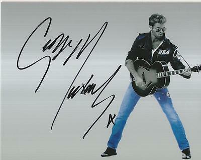 George Michael Autographed Pre Print - Signed Photograph
