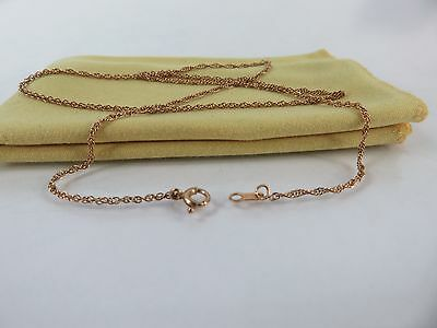Vintage 14k Yellow Gold Chain Link Necklace, 16 1/4 inches