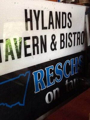 Large Pub / Reschs Beer Sign. Hylands Tavern And Bistro. Narooma Nsw