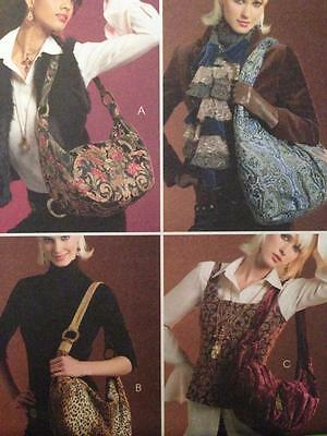 McCalls Sewing Pattern 5198 Four Lined Hobo Bags Uncut Fashion Accessories