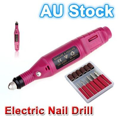 Electric Nail Drill Bits 6 File Tool Machine Acrylic Art Manicure Pen Shaper G#