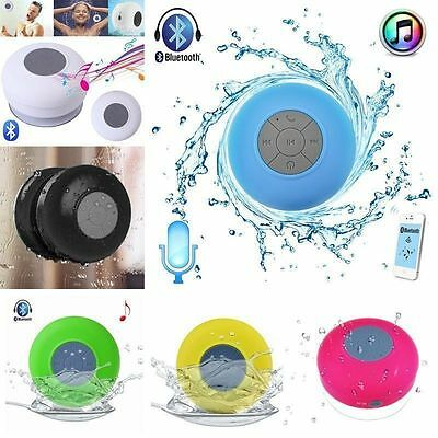 Wireless Bluetooth Waterproof Speaker Handsfree Mic Suction Shower Bathroom GM@@