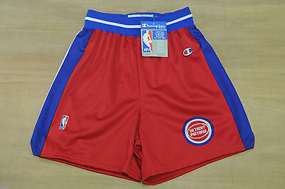 Detroit Pistons - Size XL - Vintage Champion NBA Basketball Shorts - New & Tags