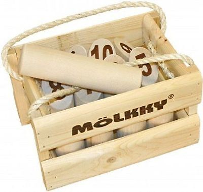 Tactic Games US Molkky GAME, Wooden Carrying Crate Original OUTDOOR GAME
