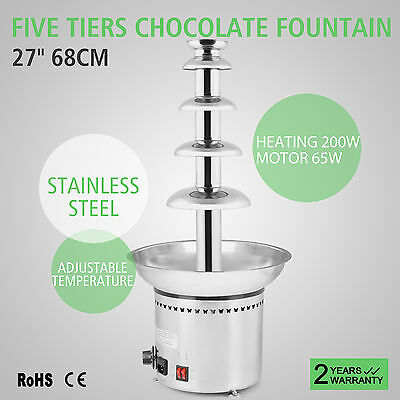 Home Maker Chocolate Fondue Fountain Stainless Steel 5 Tiers Stainless Steel