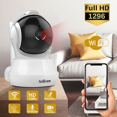 WIFI IP Camera 360 Fisheye Panoramic  2MP 1080P Security CCTV Night Vision Video