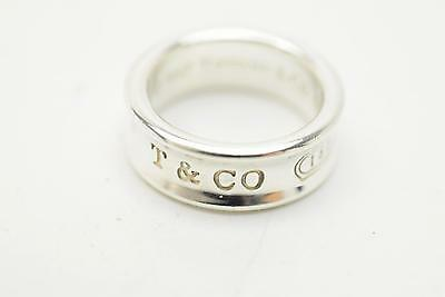 Authentic Tiffany & Co. Ring Band Silver 925 US 5 1837 138527