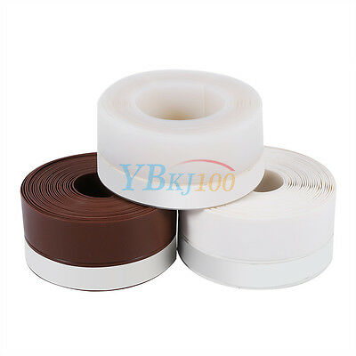 Self-sdhesive 5M Silicone Rubber Draught Excluder Strip Window Door Sealing Tape