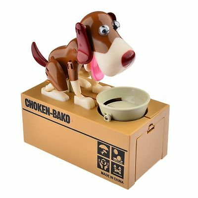 Piggy Bank Stealing Coins Doggy Automated Saving Money Box Cute Birthday Gift