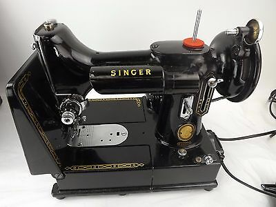 Rare Vintage Electric Singer 222K Featherweight Sewing Machine