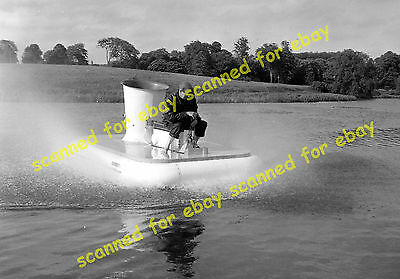 Photo - Skimmer 2 hovercraft with Donald Robertson, Luton Hoo, June 1962