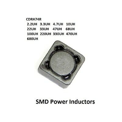 2.2/3.3/4.7/10/22/33/47/56/68-680 UH CDRH74R Shield SMD Power Inductors 7x7x4MM