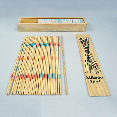 Baby Educational Wooden Traditional Mikado Spiel Pick Up Sticks With Box Game#D