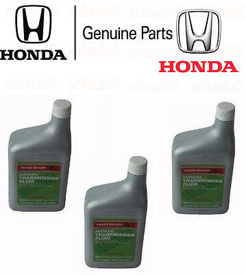 3 Quarts Genuine Honda MTF Manual Transmission Fluid For Acura 087989031