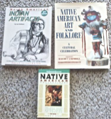 3 books on Native American Art and Artifacts