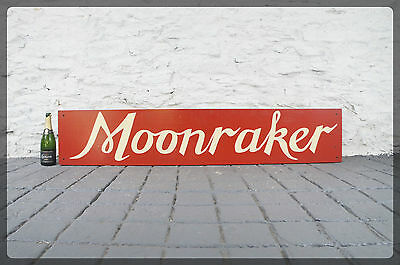Very Large Vintage Sign - Moonraker - Wiltshire / West Country - Hand Painted