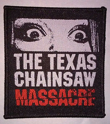 The Texas Chainsaw Massacre - woven PATCH - 1974 saw - HORROR, Leatherface, punk