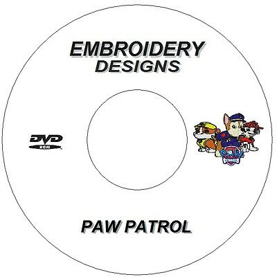 New Embroidery Designs Cd Dvd Paw Patrol Characters X7 Brother Janome Singer