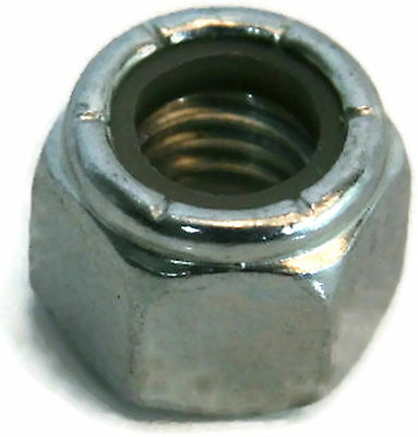 "Nylon Insert Lock Nut Zinc Grade A Hex Nuts - 1/4""-20 UNC - Qty-100"