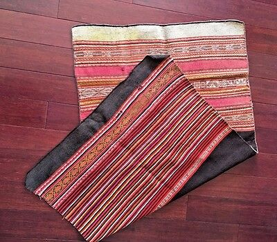 Very Old Bolivian Hand Woven, Natural dye, Very Tight Weave, Wool