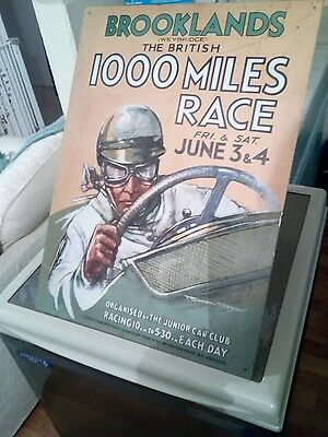 Brookland 1000 Mile race metal sign good condition large size