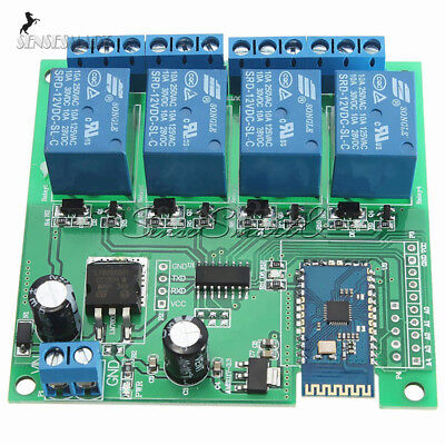 12V 4/8-CH Bluetooth Relay Android Mobile Remote Control Motor 5V Relay Module