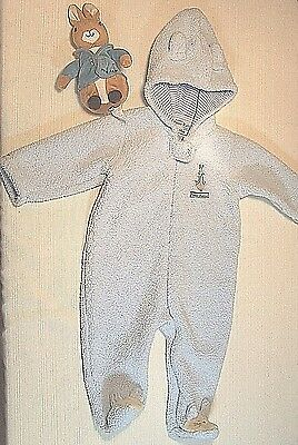 Peter Rabbit Hooded Romper Blue 6-9 months and Plush Peter Rabbit Toy