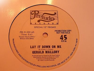 Gerald Mallory - Lay It Down On Me - Prelude White Demo - Modern Soul - MP3