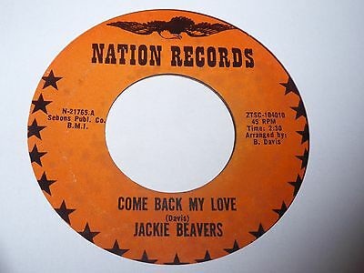 Jackie Beavers - Come Back My Love - Nation - Northern Soul - MP3