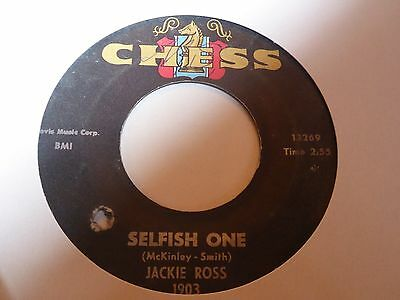 Jackie Ross - Selfish One - Chess - Northern Soul - MP3