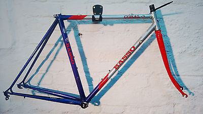 very small Basso Coral Frameset Columbus Cromor Size 50