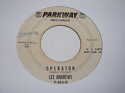 Lee Andrews - Operator - Parkway White Demo - Northern Soul - MP3