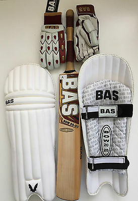 BAS BOW 2020 LE Cricket Bundle, Bat, Pads & Gloves RRP £500: As used by Amla