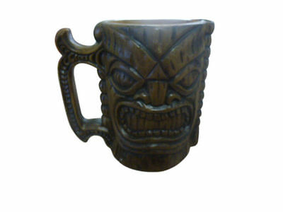 "Tiki Mug Original Kona Coffee Mill Hawaii USA 4"" Cup Plastic Resin Faux Wood"