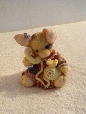 """This Little Piggy 1994 """"Sow Are Things With You?"""" Enesco Figurine Piggy on Phone"""