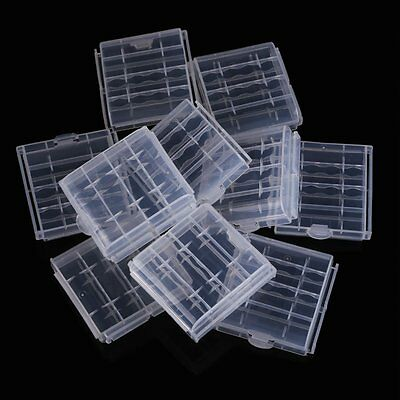 10x Plastic Case Holder Storage Box Cover for Rechargeable AA AAA Batteries TS