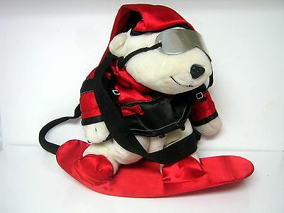 1997 Coca-Cola Snowboarding Polar Bear with Shoulder Straps