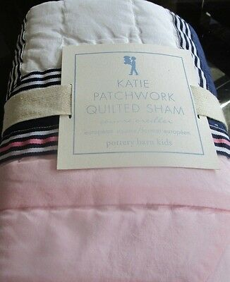 2 Pottery Barn Kids Katie Patchwork Euro shams  quilted  New