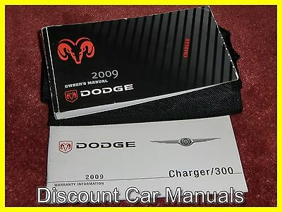 ★★ 2009 Dodge Charger Owners Manual Portfolio 09!! ★★