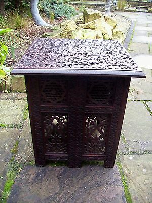 Large  Antique  Folding  Rosewood  Anglo/ Indian   Side Table