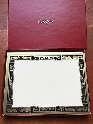 Cartier Stationary Exquisite Embossed Signature Panther 10 Cards New 100% Aut