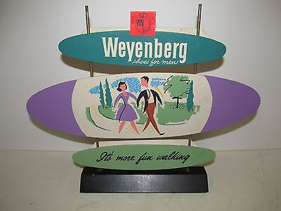 Vintage sign Weyenberg Shoes For Men, Table Top Size, Point of Sale Advertising.