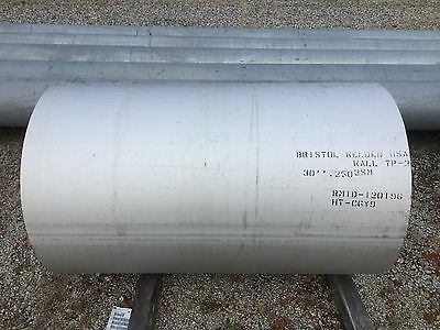 """30"""" Pipe Schedule 5 Stainless Steel 304 Domestic ( 4 FT In Length )"""
