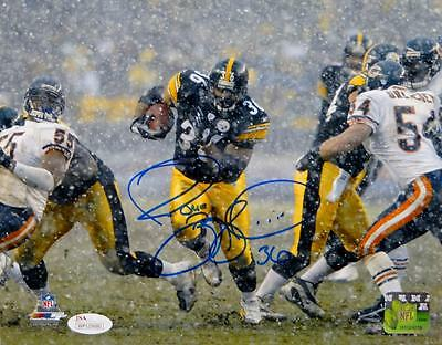 Jerome Bettis Autographed Pittsburgh Steelers 8x10 In Snow PF. Photo- JSA W Auth