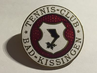Anstecknadel ca 20iger Jahre Tennis Club Bad Kissingen