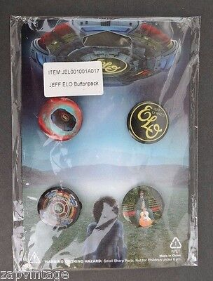 4 Electric Light Orchestra Promo Pins Badges ELO Jeff Lynne