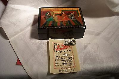 Vintage Russian Lacquer Box, Signed, With Original Bill, L-B465