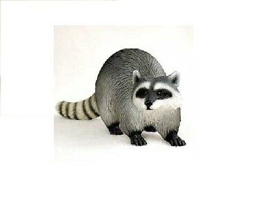"Adorable Raccoon Figurine Nature Animal Resin Statue 4"" New"