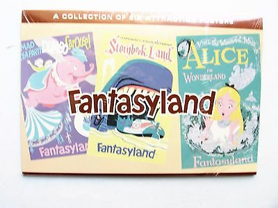 Disneyland Vintage Fantasyland Attraction Posters - Collection of 6 - Brand New
